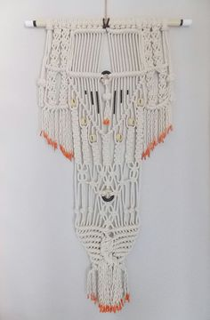"Modern Macrame Knotted Wall Hanging ""no.26"" by Himo Art, One of a kind Handcrafted Macrame Home Decor on Etsy, $58.00"