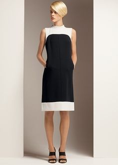 Distinct Double-Faced Holden Dress in December 2012 from Lafayette 148 New York on shop.CatalogSpree.com, my personal digital mall.