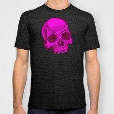 Skull - Magenta T-shirt by Artistic Dyslexia - $22.00. artisticdyslexia.com Also available in Adult and Children's Clothing; Prints and Cards; iPhone, iPod and iPad Cases; iPhone, iPod, iPad and Laptop Skins; Throw Pillows; Tote Bags; Wall Clocks; Mugs and Rugs!