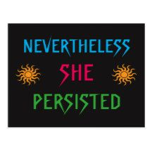 Nevertheless She Persisted 2018 Calendar Postcard