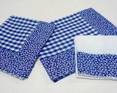 Kit Cozinha Azul Artesanal