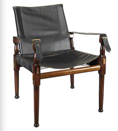 Campaign Chair - British Colonial Replica - Features Double-Layered Cowhide and Solid Maple Wood Legs in Dark Finish - Authentic Models Living Room Chairs, Living Room Furniture, Accent Furniture, Living Rooms, Furniture Storage, Living Spaces, Furniture Design, Dining Chairs, White Lounge