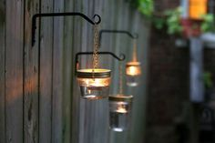 [ Diy Outdoor Hanging Mason Jar Lights Diy Wedding Decorations 29 ] - Best Free Home Design Idea & Inspiration Hanging Mason Jar Lights, Outdoor Hanging Lights, Mason Jar Lighting, Diy Hanging, Outdoor Party Lighting, Outdoor Decor, Lighting Ideas, Outdoor Crafts, Citronella Torches