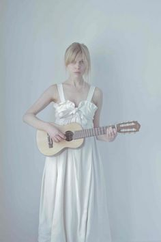 Clémence Poésy wearing dress by Chloé photographed by CORRAN BROWNLEE