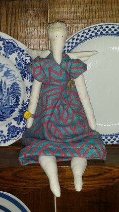Fairy made from Woven wings Hon Ringed Kingfisher (HRKF)