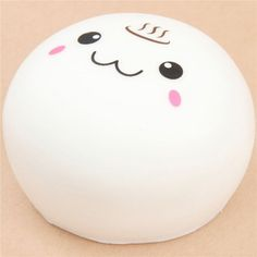 cute white steam bun food squishy kawaii