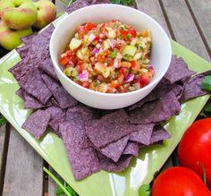 Gluten Free Peach Salsa #recipe via Gluten Free Crumbley http://www.yummly.com/recipe/Gluten-Free-Peach-Salsa-1166150