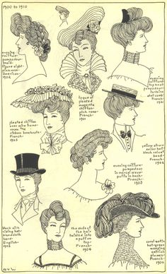 The Mode in Hats and Headdress: A Historical Survey | 198 plates by R. Turner Wilcox  1901-1904