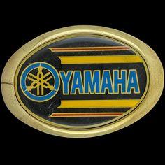 Yamaha Logo Dirtbike Motorcycle Biker Rider 1983 Vintage Belt Buckle