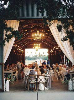 Wedding inspiration for a barn wedding with a modern twist