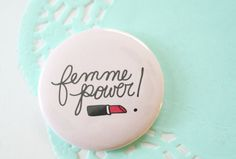 Femme Power Pocket Mirror by ModernGirlBlitz on Etsy, $4.50