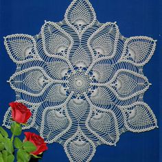 Beautiful crochet doily with pineapples galore! Table Cloths And Table Runners ...