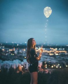 balloon, stars, and city image