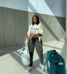 Swag Outfits For Girls, Cute Swag Outfits, Dope Outfits, Casual Outfits, Fashion Outfits, Cute Airport Outfit, Casual Trends, Tomboy Fashion, Polyvore Outfits
