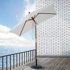 Sonnenschirm knickbar 200 x 150 x 230 cm (LxBxH), weiß, Outsunny | yomonda