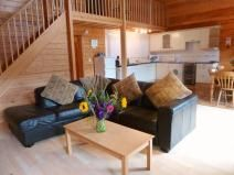 Spacious and contemporty lodge for 7 people
