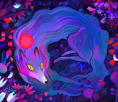 Wolf and Birds on Behance