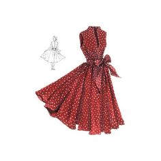 Start Spreading the Mews Dress ❤ liked on Polyvore featuring dresses, vintage day dress, red dress, a line dress, scoop neck dress and scoop-neck dresses
