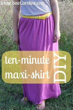 ten minute maxi skirt DIY // sewcaroline.com