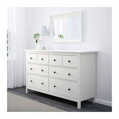 HEMNES 8-drawer dresser, white white 63x37 3/4