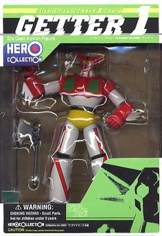 "Apparently this is from ""Getter Robo,"" a giant robot franchise that debuted in the '70s. I'd never heard of it until I saw this toy yesterday, and now I can't see its name without hearing it in the voice of Larry the Cable Guy in my head."