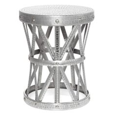 Good height to replace the End tables.  Union Stool from Z Gallerie