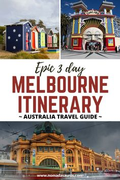 You'll find that Melbourne is one of Australia's most cosmopolitan cities! If you're looking to plan a short trip, here's a great 3 days in Melbourne itinerary! . What to do in Melbourne, What to see in Melbourne, Places to visit in Melbourne, Things to do in Melbourne, Melbourne Attractions, Attractions in Melbourne, Tourist Sights in Melbourne, Melbourne Tourist Sights Melbourne Attractions, Kakadu National Park, Daintree Rainforest, Melbourne Street, Australian Capital Territory, Australia Travel Guide, Top Destinations, Short Trip, Great Barrier Reef