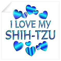Shih Tzu Graphic Poster/I love my shih-tzu/poodle/maltese cross!!
