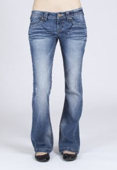 #4: Wallflower Junior Famous Flare Jeans in Light Denim Wash