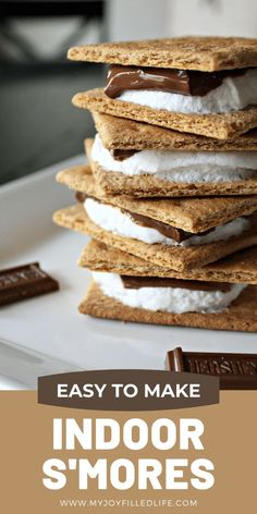 Do you want s'mores anytime of the year? Here is an easy way to make s'more any time you want and they come out perfectly everytime! #smores #ilovesmores #easytreat