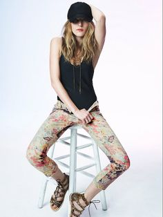 Free People Hill Floral Mid Rise Skinny, €126.48