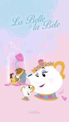 WALLPAPER Disney Phone Wallpaper, Cartoon Wallpaper Iphone, Kawaii Wallpaper, Disney Dream, Disney Magic, Tsum Tsum Wallpaper, Fera Disney, Disney Beauty And The Beast, Character Wallpaper