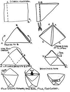 origami egg bowl