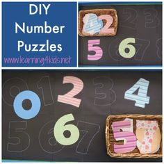 These Homemade Number Puzzles are an hands-on and interactive activity that promotes the learning of number recognition, counting and the value of 'how many' each number is. Description from learning4kids.net. I searched for this on bing.com/images