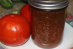 Tomato Relish Recipe - Did you have more tomatoes from your garden than you expected? Make this great tomato relish, and enjoy year round. You can use it as a side dish for just about anything! Relish Recipes, Sauce Recipes, Canning Recipes, Creole Sauce Recipe, Shrimp Side Dish, Strawberry Fig Preserves, Ground Beef Stews, Rice And Gravy, Shrimp And Eggs