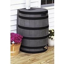 50 Gallon Darkened Ribs Rain Wizard Barrel Assorted Colors Rain