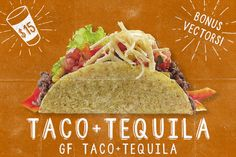 Taco+Tequila, 2 Fonts + Extras! by Design Surplus on Creative Market