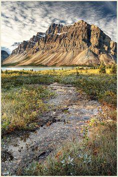 Bow Lake in Alberta, Canada (alluvial fans)