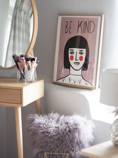 Margot In Margate Be kind Print Downstairs Toilet, Room Stuff, Girl Room, Painting Inspiration, Wake Up, Snug, Sweet Home, Decorating Ideas, Nursery