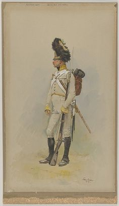Édouard Detaille (French, 1848–1912). A Standing Grenadier of the Municipal Guard, 1891. The Metropolitan Museum of Art, New York. Gift of Jeffrey L. Berenson, 2002 (2002.574) #sword