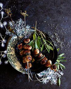 Date Devils On Horseback Pork Pops. A stunning little festive season snack.
