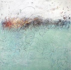 Judy Wise | Brushfire | oil and cold wax on panel /sm