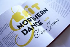 soul music and dance  editorial design