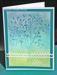 Brenda's Crafty Corner  (Darice Tree with Leaves embossing folder)