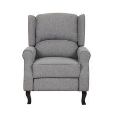 Modern Wingback Linen Fabric Accent Recliner Chair | Overstock.com Shopping - The Best Deals  sc 1 st  Pinterest & ProLounger Caribbean Blue Linen Push Back Recliner Chair by ProLounger islam-shia.org