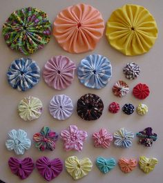 Samples made on the Clover Yo-Yo Tools by knittingand, via Flickr