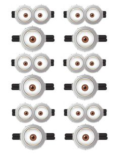 Free Minion Printable Eyes Minion Bday Pinterest Minion Party
