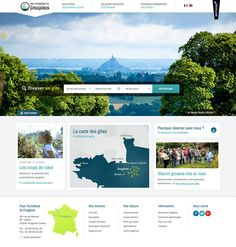 Refonte du site du Pays Touristique de Fougères, site e-tourisme de location de gîtes en Bretagne et réservation de séjours clés en main pour les professionnels.