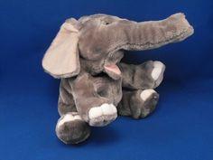New product 'Beverly Hills Teddy Bear Co Full Body Gray Elephant Puppet' added to Dirty Butter Plush Animal Shoppe! - $12.00 - Beverly Hills Teddy Bear Co. Plush 14 inch Full Body Gray Velour Elephant Puppet - Light Gray Velour Ears - Black Plasti…