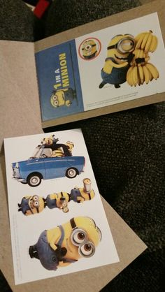 Minion stickers. I saw this in a vending machine and I couldn't help myself